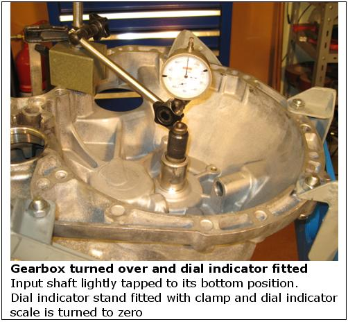 Gearbox turned over and dial indicator fitted wiki.JPG
