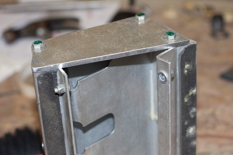 Temporary closure plate in place